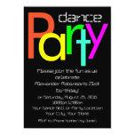 Futuristic Fun 5x7 Dance Party Invitation