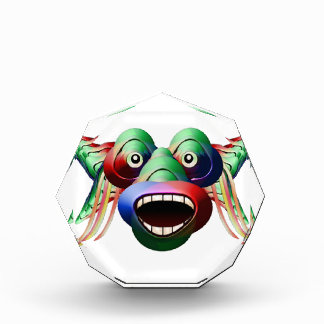 Futuristic Funny Monster Character Face Acrylic Award