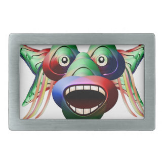 Futuristic Funny Monster Character Face Belt Buckle