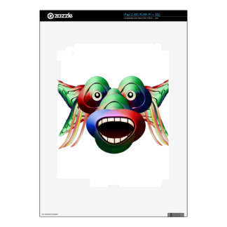 Futuristic Funny Monster Character Face iPad 2 Skin