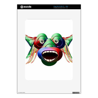 Futuristic Funny Monster Character Face iPad Decals