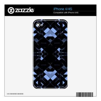 Futuristic Geometric Design Skins For iPhone 4