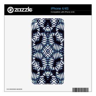Futuristic Geometric Print iPhone 4S Decals