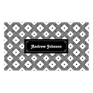 Futuristic grid line pattern Double-Sided standard business cards (Pack of 100)