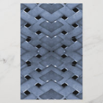 Futuristic Grid Pattern Design Print in Blue Tones