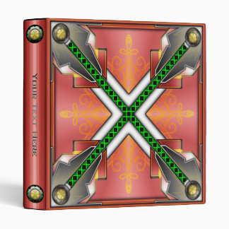 Futuristic Hi Tech Metallic Binder