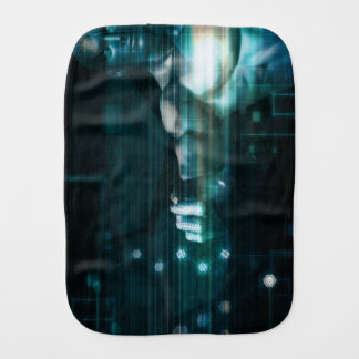 Futuristic Interface with Android Robot User Burp Cloth