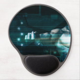 Futuristic Interface with Android Robot User Gel Mouse Pad