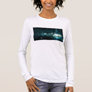 Futuristic Interface with Android Robot User Long Sleeve T-Shirt