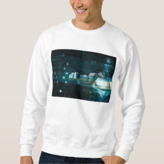 Futuristic Interface with Android Robot User Sweatshirt