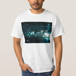 Futuristic Interface with Android Robot User T-Shirt