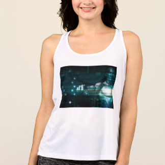 Futuristic Interface with Android Robot User Tank Top