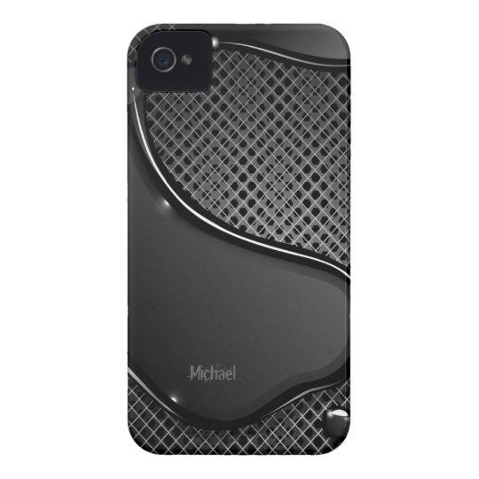Futuristic Metal Abstract Black Liquid iPhone 4 Case-Mate Case