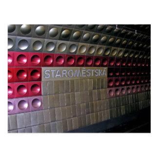 Futuristic Metro, Prague Postcard