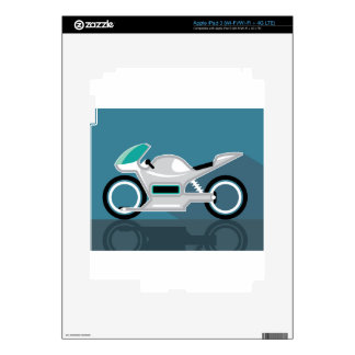 Futuristic motorcycle iPad 3 skin