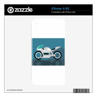 Futuristic motorcycle iPhone 4S skin