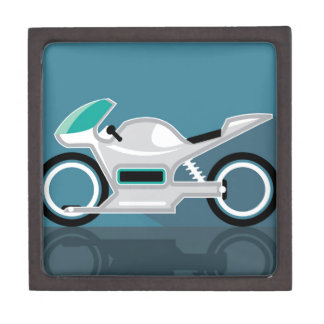 Futuristic motorcycle jewelry box