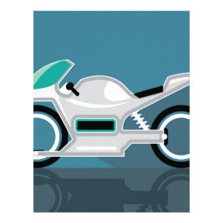 Futuristic motorcycle letterhead
