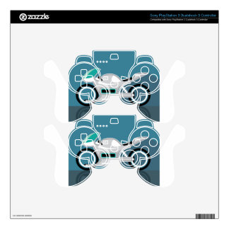 Futuristic motorcycle PS3 controller decal