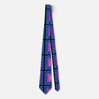 Futuristic Optical Illusion Designer Asymmetrical Neck Tie