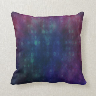 Futuristic Pattern in Red, Blue and Green Throw Pillow