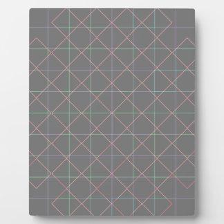 Futuristic Pinstripes Plaque