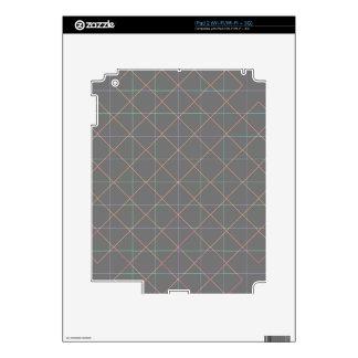 Futuristic Pinstripes Skin For iPad 2