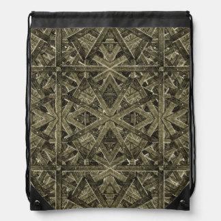Futuristic Polygonal Drawstring Backpack