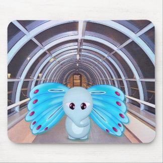 Futuristic Scene, Butterfly Elephant Mousepads