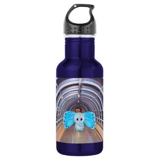 Futuristic Scene, Butterfly Elephant 18oz Water Bottle