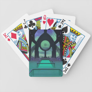 Futuristic Sci-Fi Cathedral Building Bicycle Playing Cards