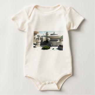 Futuristic Sci-Fi townscape Baby Bodysuit