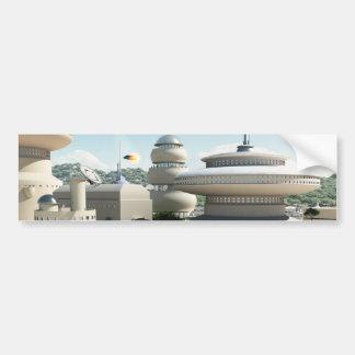 Futuristic Sci-Fi townscape Bumper Sticker