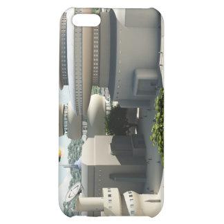 Futuristic Sci-Fi townscape iPhone 5C Covers