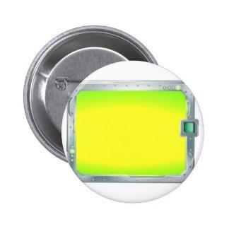 Futuristic screen or sign border frame pin