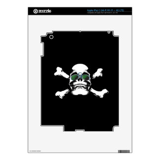 FUTURISTIC SKULL AND BONES LOGO GRAPHICS SCARY GAN SKINS FOR iPad 3