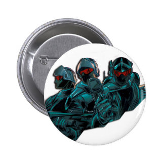 Futuristic Soldiers Buttons