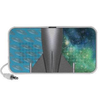 Futuristic Space Exploration Mini Speakers