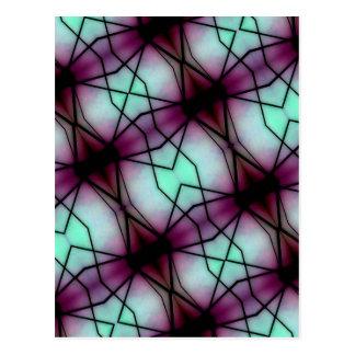 Futuristic Space Geometric Pattern Postcard