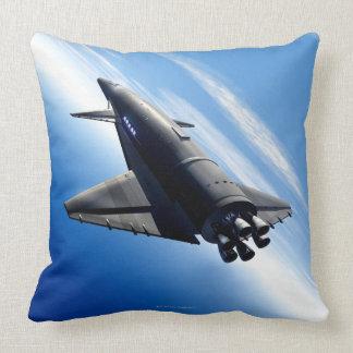 Futuristic Space Shuttle Throw Pillow