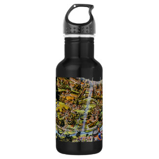 Futuristic Space Station Interior Stainless Steel Water Bottle