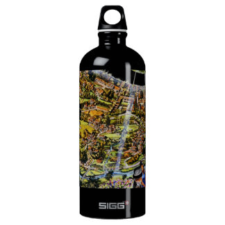 Futuristic Space Station Interior Water Bottle