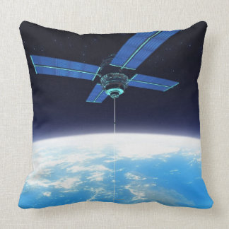 Futuristic Space Station Throw Pillow