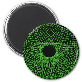 Futuristic spirograph magnet