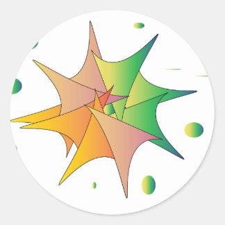 Futuristic Round Sticker