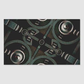 Futuristic Structure Rectangular Sticker