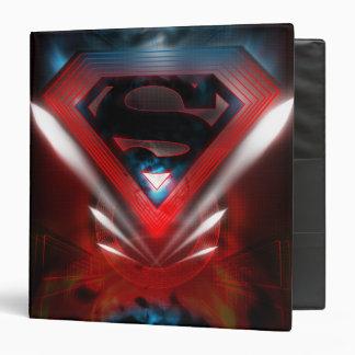 Futuristic Superman Logo 3 Ring Binder