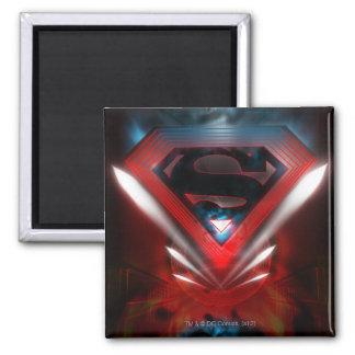 Futuristic Superman Logo Refrigerator Magnet