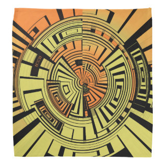 Futuristic technology abstract bandana