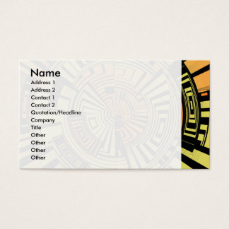Futuristic technology abstract business card